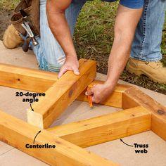 Grill Gazebo Plans: Make a Grillzebo! Gazebo On Deck, Grill Gazebo, Diy Gazebo, Hot Tub Gazebo, Gazebo Plans, Gazebo Ideas, Patio Ideas, Backyard Gazebo, Pergola Cover