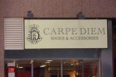 CARPE DIEM, zapatería, Calle Muntaner, Barcelona.