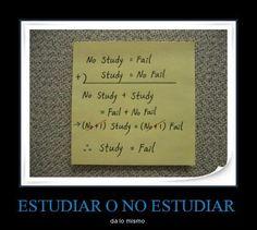 ¿Estudiar o no estudiar? Da lo mismo.