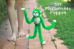 Turn A Stuffed Animal Into A Marionette Puppet - Things to Make and Do, Crafts and Activities for Kids - The Crafty Crow