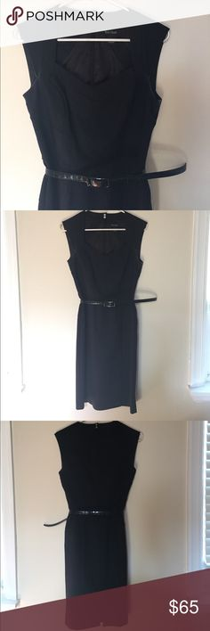White House Black Market Black Dress This is an instantly slimming little black dress! Cap sleeves, sweetheart neckline and belt all add extra pizazz to this LBD. Perfect for a cocktail party, rehearsal dinner, or a work party. You'll feel confident as ever! White House Black Market Dresses