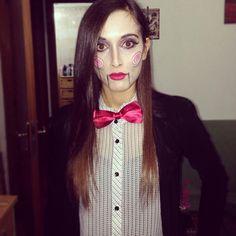 #me #saw #costume #halloween #expression #makeup #white #trandy #fashion #papillon #red #lips #pinterest ♥ :-*