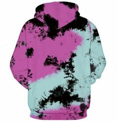 Unisex 3D Novelty Hoodies Dusty Rose,Poly Effect Futuristic,Oversized Sweatshirts for Women