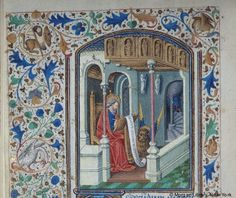 Book of Hours, MS M.28 fol. 17v - Images from Medieval and Renaissance Manuscripts - The Morgan Library & Museum