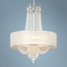 """$299.99  Hallie 21"""" Wide Clear Crystal Chandelier Lamps Plus"""