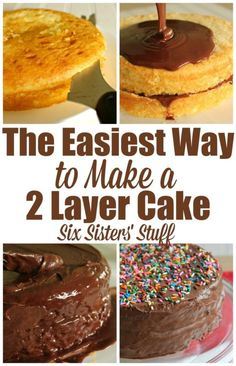 The Easiest Way to make a 2 layer cake! - Why have I never thought of that!