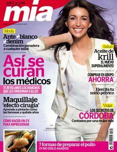 Revista MÍA 1488, #abril 2015. #NoeliaLópez. #Maquillaje efecto cirugía. Comprar en grupo #ahorra. Los secretos de #Córdoba. #Salud_ aceite de #krill.