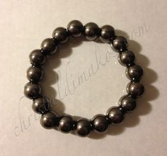 silver solid bead bracelet large 1a
