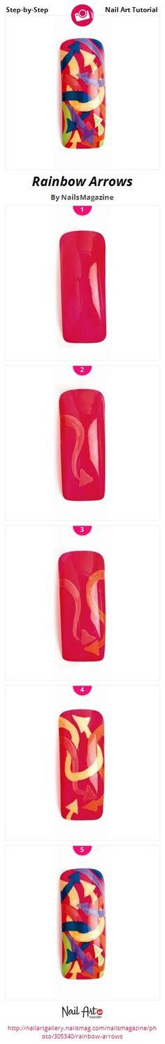 Rainbow Arrows by NailsMagazine - Nail Art Gallery Step-by-Step Tutorials nailartgallery.nailsmag.com by Nails Magazine www.nailsmag.com #nailart