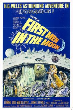 First Men in the Moon (1964, UK)    science fiction film poster