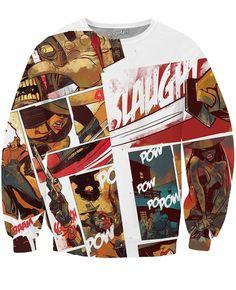 Comic Cowboy Crewneck Sweatshirt