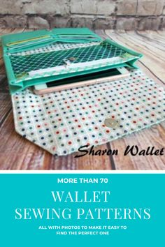Wallet sewing patterns for sewers of all levels. A combination of both free pattern and paid patterns for a wide range of different types of wallets to sew. More than 70 wallet patterns already saved in this archive and more patterns regularly being added. All the wallet patterns have a photo so its easy to scroll and find a sewing pattern for the perfect wallet for you. #SewModernBags #WalletSewingPatterns #WalletsToSew #WalletsDIY #FreeWalletPattern Wallet Sewing Pattern, Tote Pattern, Bag Patterns To Sew, Sewing Patterns Free, Sewing Ideas, Handmade Handbags, Handmade Bags, Diy Pouch No Zipper, Sew Wallet