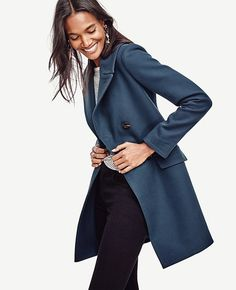 Image of Cotton Twill Double Breasted Coat Nice coat from Ann Taylor