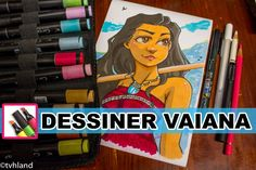 Dessiner Vaiana au Graph It en Art Challenge