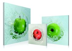 Apples Droping 3 Piece Framed Photographic Prints Set