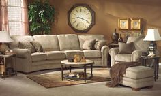 Flexsteel Furniture: Sectionals: HarrisonFabric Sectional w/out Nails (7271-Sect)