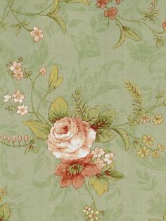 Beacon House Floral Wallpaper by Brewster. Find this pattern at AmericanBlinds.com.