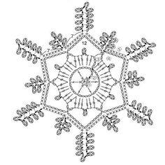 Haakpatroon sneeuwvlok