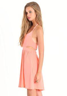 Lunette Neon Orange Dress by BB Dakota  $78.00