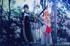 """""""yuuki. Asuna. kirito. SAO.  - Kaede Chan(Suninha ) Asuna, Rena(Rena Chan) Kirito Cosplay Photo"""""""