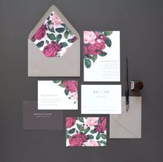 Harlow Wedding Invitation & Correspondence by rachelmarvincreative