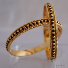 Find wide range of fashion jewellery, imitation, bridal, artificial, beaded and antique jewellery online. Buy imitation jewellery online from designers across India. Call us on [phone] now to resolve your queries. Gold Bangles Design, Gold Jewellery Design, Beaded Jewelry, Silver Jewelry, Crystal Jewelry, Antique Jewellery Designs, Antique Jewellery Online, Antique Jewelry, Dainty Bracelets