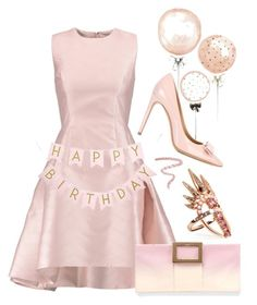 """""""Celebrate Our 10th Polyversary!"""" by sunnydays4everkh ❤ liked on Polyvore featuring Alexis, Salvatore Ferragamo, Roger Vivier, Nikos Koulis, Bobbi Brown Cosmetics, polyversary and contestentry"""
