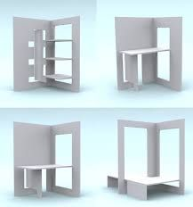 Flat pack designs are in danger of becoming altogether too dominated by stylistic affectations and functionless trends This refreshingly pragmatic vision for flat pack fu. Plywood Furniture, Folding Furniture, Smart Furniture, Modular Furniture, Furniture Design, Furniture Stores, Furniture Ideas, Furniture Removal, Stand Design