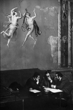 Henri Cartier-Bresson // Italy. Sicily. Palermo. Town Hall. 1971.