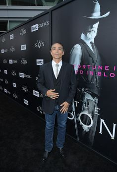 "Zahn McClarnon Photos Photos - Actor Zahn McClarnon attends AMC's ""The SON"" premiere  at ArcLight Hollywood on April 3, 2017 in Hollywood, California. - AMC's 'The Son' Premiere"
