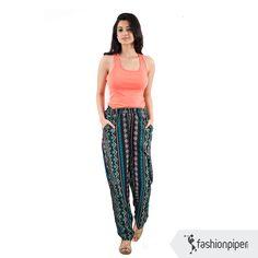 #breezy and #fashionable #pants Order now:http://www.fashionpiper.com/women/western-wear/women-bottom-wear/midnight-mood-trouser-1393.html