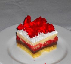 Fotorecept: Horúce kocky Dessert Recipes, Desserts, Food Design, Cheesecake, Sweets, Cakes, Dish, Tailgate Desserts, Deserts
