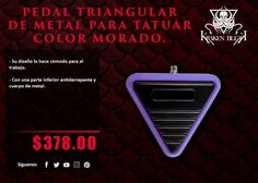 Kraken Blekk: Pedal Triangular de metal color morado - ¡Disponible en Kichink!
