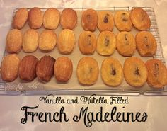 Plain and Nutella Filled French Madeleines