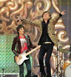 Mick Jagger on stage last night.