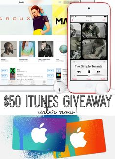 Huge giveaway! Enter now to win a $50 iTunes Gift Card!