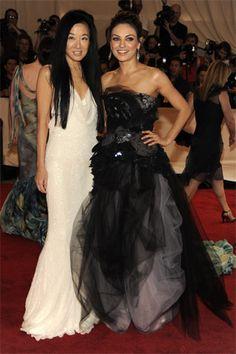 Mila Kunis, Vera Wang at the met ball