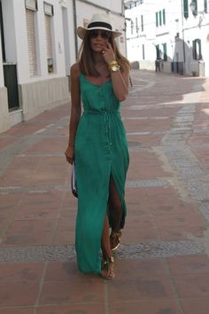 Green Summer Maxi Looks Fresh And Chic And You Could Try It This Summer