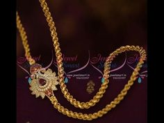 Thali Chain Designs with Side Mugappu_Mangalsutra chain designs Gold Chain Design, Gold Bangles Design, Gold Earrings Designs, Gold Jewellery Design, Gold Jewelry, Gold Necklaces, Jewelry Shop, Locket Design, Gold Chains For Men