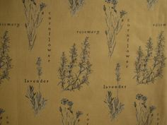 """Our first Fabric of the Week """"Herbs"""" 14-21 January"""