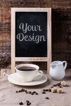 Free Coffe Chalkboard Mock Ups (566 MB) | By Taiana Avomrims on Behance | #free…