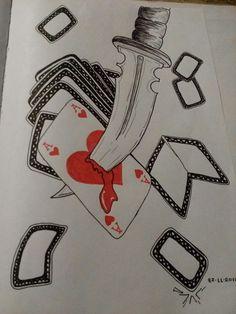 Knife cards doodle