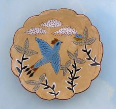 Come Fly With Me  Ceramic Plate by Cathy by CathyKiffneyStudio, $165.00