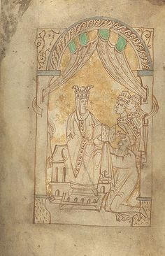 Emma of Normandy(c. 985 – 6 March 1052) was aqueen consortof England, Denmark and Norway. She was the daughter ofRichard I, Duke of Normandy, and his second wife,Gunnora. Through her marriages toÆthelred the Unready(1002-1016) andCnut the Great(1017-1035), she became theQueen ConsortofEngland,Denmark, andNorway. She was the mother of three sons,Edward the Confessor,Alfred, andHarthacnut.
