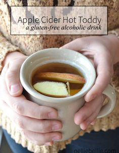 apple cider hot toddy. A gluten-free alcoholic drink that is easy to make! apple, gluten-free, alcholic, beverages, warm drinks