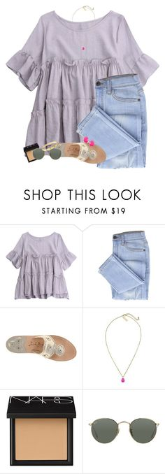 """""""Anyone else have summer homework their avoiding??"""" by erinlmarkel ❤ liked on Polyvore featuring Jack Rogers, Kendra Scott, NARS Cosmetics, Ray-Ban and Cartier"""