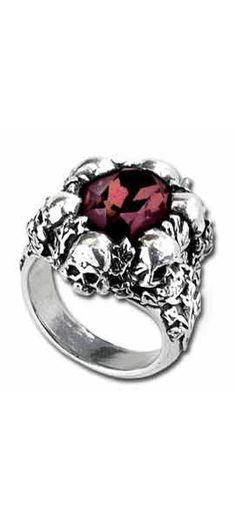 Shadow of Death Ring - Alchemy Gothic Rings