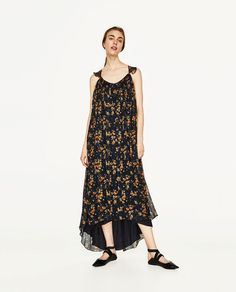 ZARA - WOMAN - LONG STRAPPY DRESS WITH FRILL