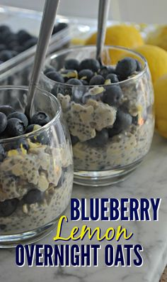 Wake up to this soaked oatmeal that tastes like a blueberry lemon muffin and is so easy to prep ahead the night before!