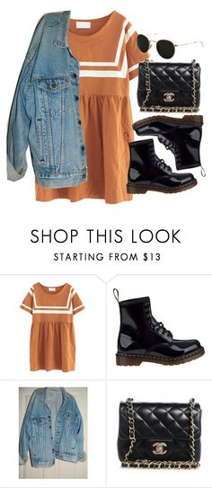 """""""Sin título #13613"""" by vany-alvarado ❤ liked on Polyvore featuring Chicnova Fashion, Dr. Martens, Levi's, Chanel and Ray-Ban"""
